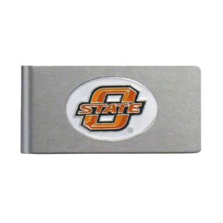 Oklahoma State Cowboys Sports Team Logo Brushed Metal Money Clip