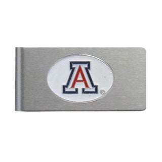 Arizona Wildcats Sports Team Logo Brushed Metal Money Clip