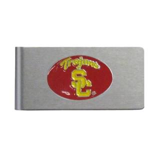 USC Trojans Sports Team Logo Brushed Metal Money Clip