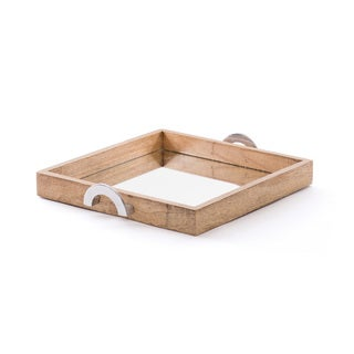 Wood and Mirrored Tray