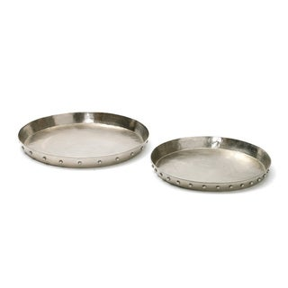 Set of Two Riveted Trays