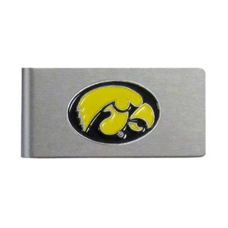 Iowa Hawkeyes Sports Team Logo Brushed Metal Money Clip