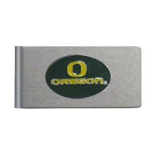 Oregon Ducks Sports Team Logo Brushed Metal Money Clip