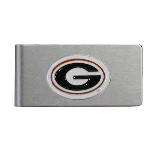 Georgia Bulldogs Sports Team Logo Brushed Metal Money Clip