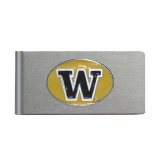 Washington Huskies Sports Team Logo Brushed Metal Money Clip