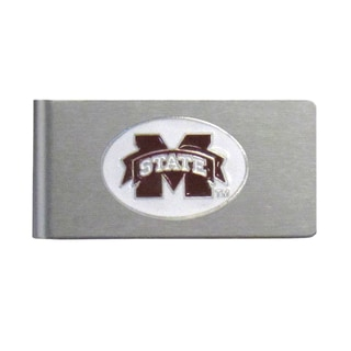 Mississippi State Bulldogs Sports Team Logo Brushed Metal Money Clip