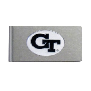 Georgia Tech Yellow Jackets Sports Team Logo Brushed Metal Money Clip