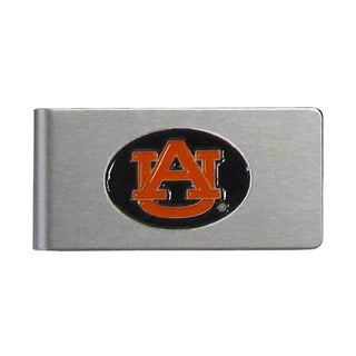 Auburn Tigers Sports Team Logo Brushed Metal Money Clip