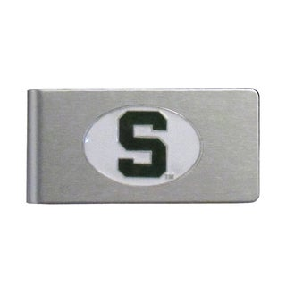 Michigan State Spartans Sports Team Logo Brushed Metal Money Clip