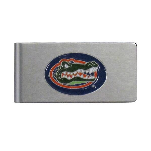 Florida Gators Sports Team Logo Brushed Metal Money Clip