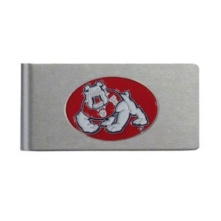 Fresno State Bulldogs Sports Team Logo Brushed Metal Money Clip