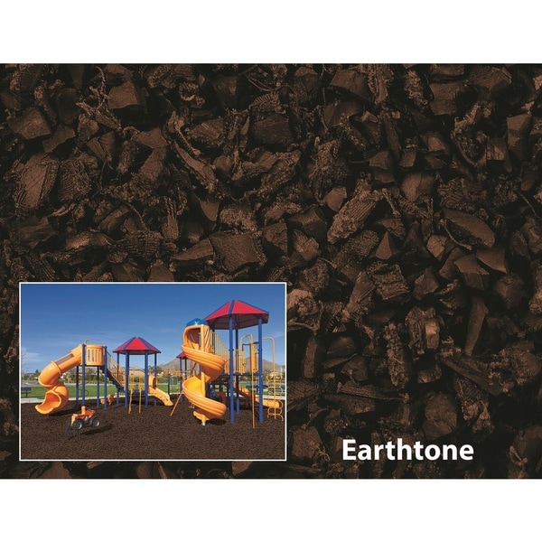 NuPlay Earthtone Rubber Mulch 75 Cubic Foot Pallet