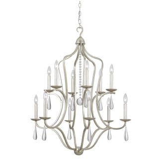 Crystorama Manning Collection 12-light Silver Leaf Chandelier