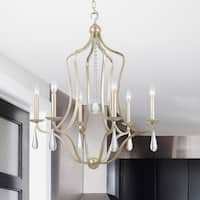 Crystorama Manning Collection 6-light Silver Leaf Chandelier