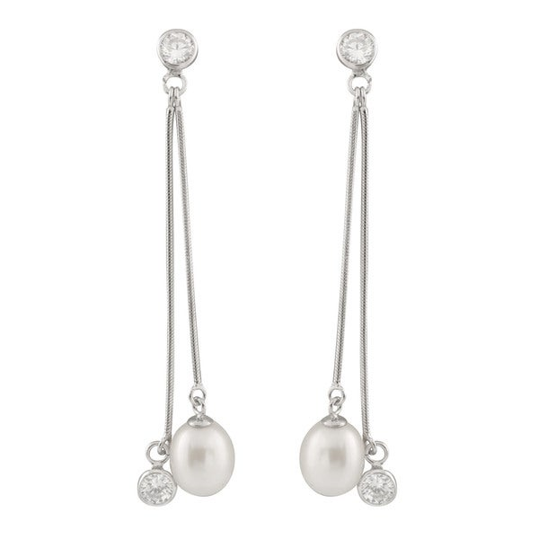 amazon dangle babeyond imitation brass women for long pearl dangling l dp plated earrings drop com