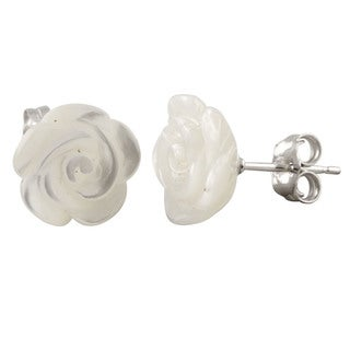 Link to Sterling Silver Flower-shaped Pearl Stud Earrings (10-11mm) Similar Items in As Is