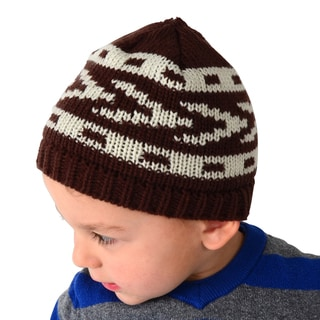 Crummy Bunny Brown and White Toddler Knitted Beanie