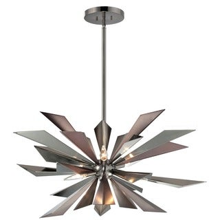 Crystorama Galaxy Collection 7-light Midnight Chrome Chandelier
