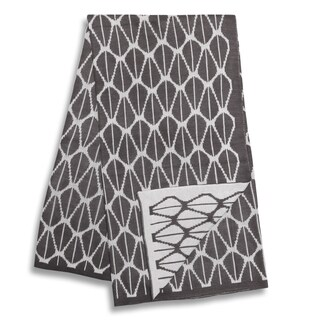The Peanut Shell Charcoal and White Reversible Blanket