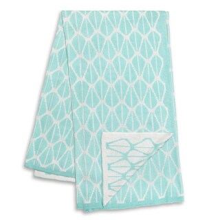 The Peanut Shell Mint and White Reversible Blanket