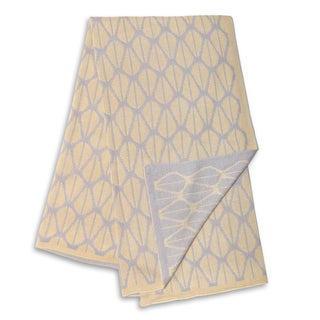The Peanut Shell Grey and Yellow Reversible Blanket