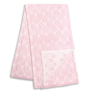 The Peanut Shell Pink and White Reversible Blanket