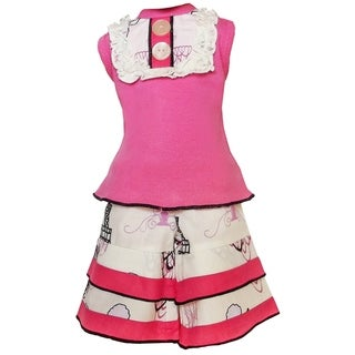 AnnLoren Paris Poodles Tank and Capri Set for 18-inch Dolls