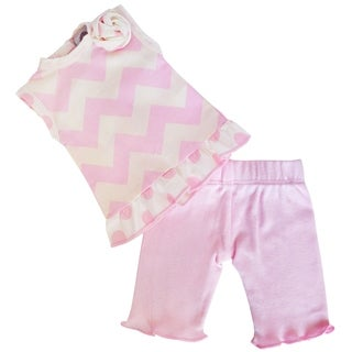 AnnLoren Pink Chevron 2-piece Outfit for 18-inch dolls