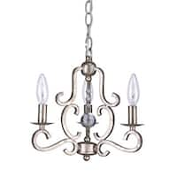 Crystorama Orleans Collection 3-light Olde Silver Mini Chandelier - N/A