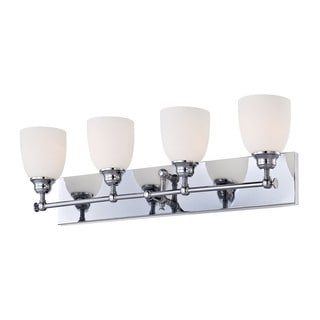 Alico Essex 4-light Vanity with Chrome and White Opal Glass