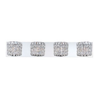 Alico Rondell 4-light Vanity with Chrome and Clear Crystal Glass