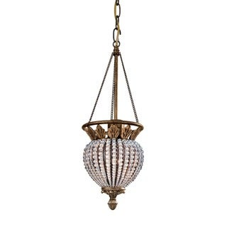 Crystorama Roosevelt Collection 1-light Weathered Patina Pendant