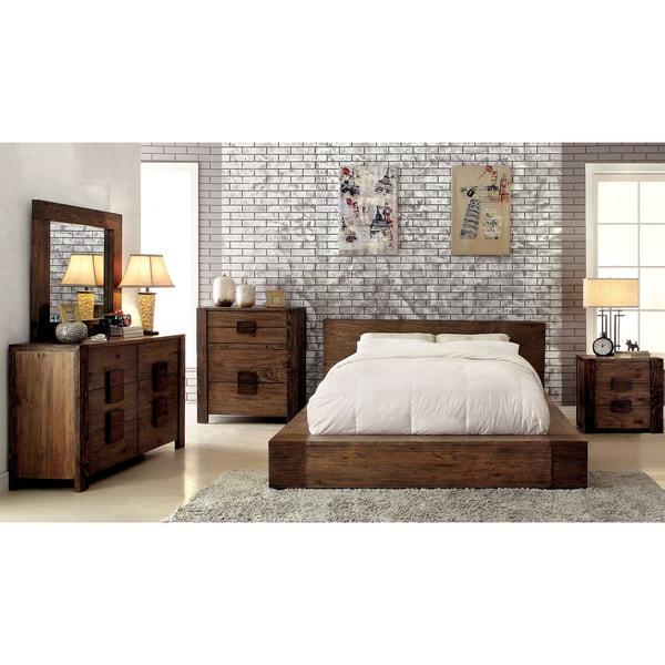 Shop Furniture Of America Shaylen I Rustic 4-piece Natural
