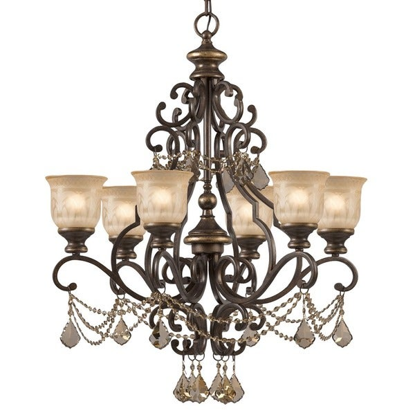 Crystorama norwalk collection 6 light bronze umbergolden teak crystorama norwalk collection 6 light bronze umbergolden teak austrian crystal strass crystal chand aloadofball Image collections