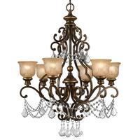 Crystorama Norwalk Collection 6-light Bronze Umber/Austrian Crystal Strass Crystal Chandelier