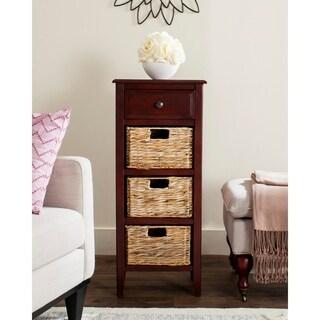 Safavieh Michaela Cherry 4-Drawer Storage Side Table