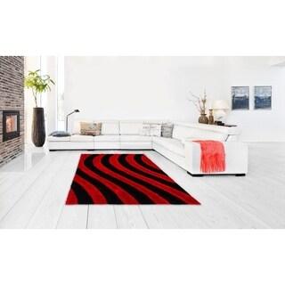 Lyke Home Jumbo Thick Lava Shag Hand-woven Area Rug (8' x 11')