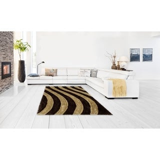 Lyke Home Jumbo Thick Coco Shag Hand-woven Area Rug (8' x 11')
