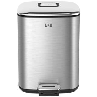 Household Essentials Stainless Steel EKO Square 32 Liter Trash Can|https://ak1.ostkcdn.com/images/products/11413645/P18377498.jpg?impolicy=medium