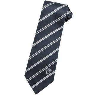 Versace 100-percent Italian Silk Grey Neck Tie