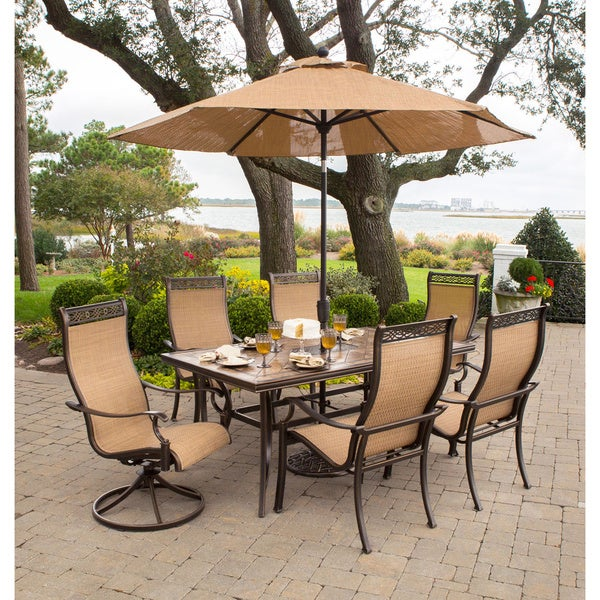 hanover monaco 7 piece outdoor patio set free shipping