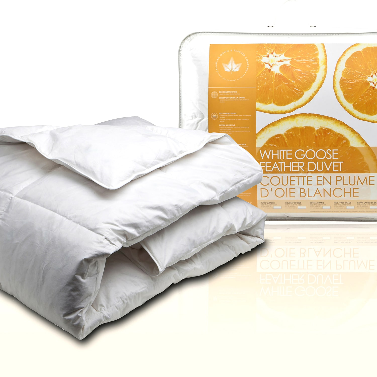 Canadian Down Feather Company White Goose Feather Comforter Overstock 11413796