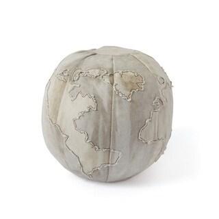 Gray Globe Pouf