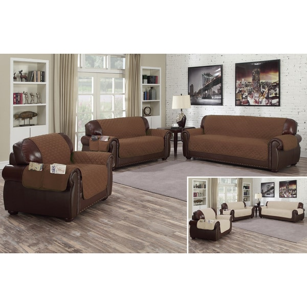 Quick Fit Liza Reversible Waterproof Sofa Cover With Pockets Free Shipping On Orders Over 45