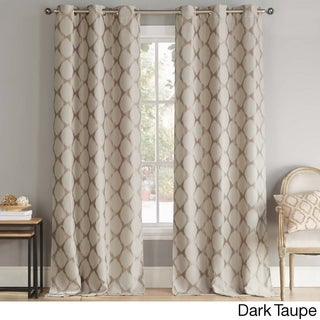 Duck River Henrietta Ikat Grommet Top Thermal Insulated Blackout Window Curtain Panel Pair