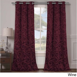 Duck River Lewis Grommet Top Thermal Insulated Blackout Curtain Panel Pair - 38x84