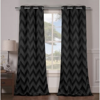Duck River Lysanna Grommet Top Thermal Insulated Blackout Curtain Panel Pair