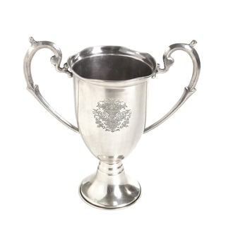 Hip Vintage Etched Trophy With Large Handles Accent Piece