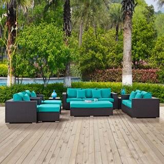 Clay Alder Home Stillwater 9-piece Outdoor Patio Sofa Set