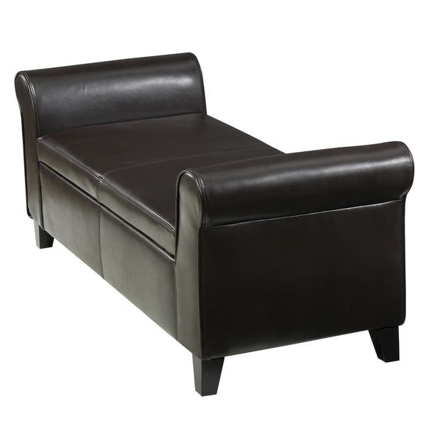 Shop Torino Contemporary Upholstered Storage Ottoman Bench With